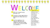 Meet the teacher welcome page