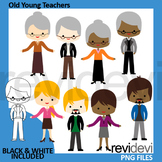 Meet the teachers clip art / old young people clipart