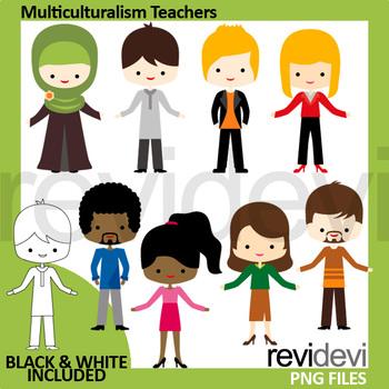 Meet the teachers clipart / Multiculturalism people clip art, men women