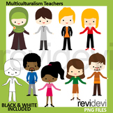 Meet the teachers clipart / Multiculturalism people clip a