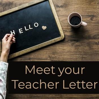 Meet your Teacher Introduction Letter...editable