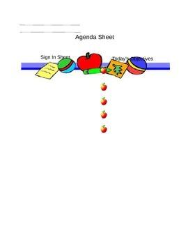 Meeting Agenda Sheet