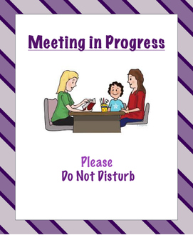 Meeting/ Conference Do Not Disturb Sign