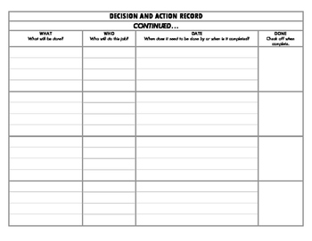 Meeting Decision Action Record