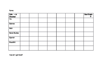 Meeting Grades with Weekly Goals