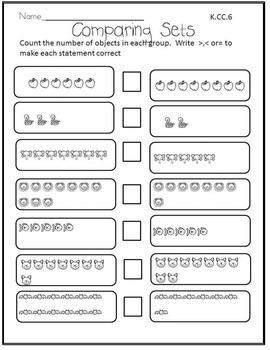 Meeting Kindergarten Math Common Core Standards