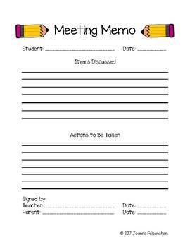 Meeting Memo