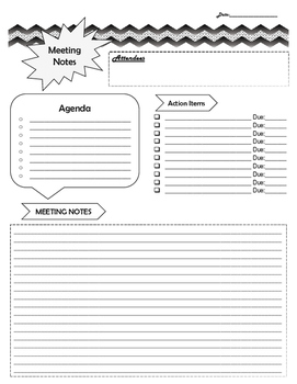 Meeting Note Page - Greyscale