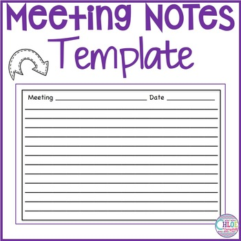 staff meeting notes template teaching resources teachers pay teachers
