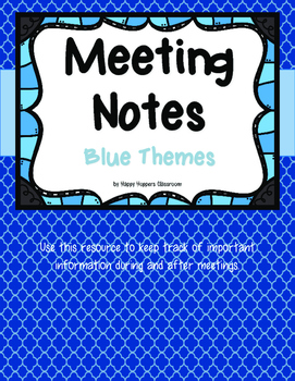 Meeting Notes - Blue Themes