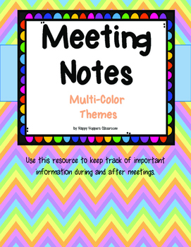 Meeting Notes - Colorful Themes