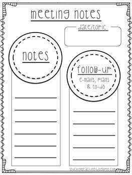 Meeting Notes Freebie!