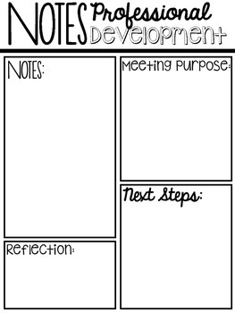 Meeting Notes Graphic Organizers