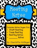 Meeting Notes Paper