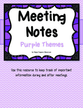 Meeting Notes - Purple Themes