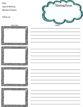 Meeting Notes Template (Editable)