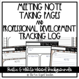 Meeting Notes and Professional Development Log - Rae Dunn Inspired