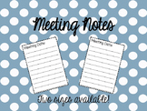 Teacher Binder Meeting Notes - two sizes!