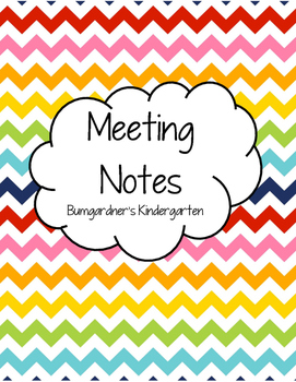 Meeting Notes Page for Binder
