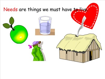 Meeting Our Needs Theme and Vocabulary Introduction