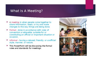 Meeting Process - Part 1 - Introduction to Meetings