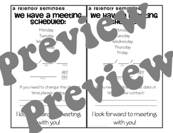 Meeting Reminder card