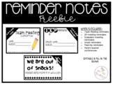 Meeting Reminders FREEBIE