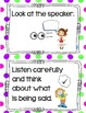 Meeting Rules Anchor Chart Cards
