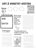 Life and Ministry Meeting Worksheet