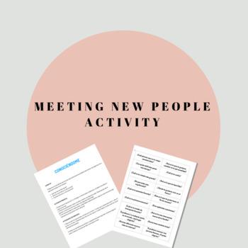 Meeting new people activity / Conociendo mis compañeros