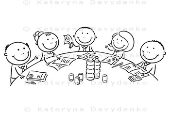 Meeting or conference round the table