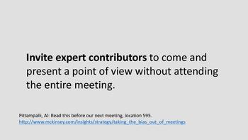 Meeting participants