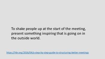 Meeting start
