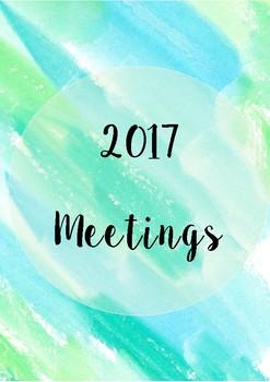 Meetings Book