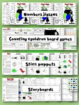 Meg and Mog - Meg's Eggs Activity Pack - Crafts, games, worksheets