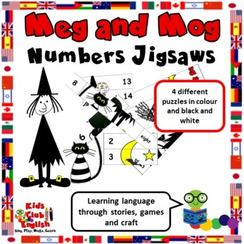 Meg and Mog Numbers Jigsaw - Crafts and activities to learn through stories