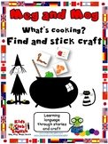 Meg and Mog - What's cooking? Find and stick craft