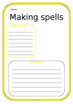 Meg and Mog making spells - HALLOWEEN TOPIC