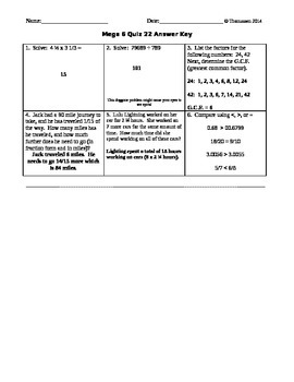Mega 6 Math Quizzes 21-30