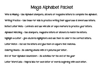 Mega Alphabet Learning Bundle
