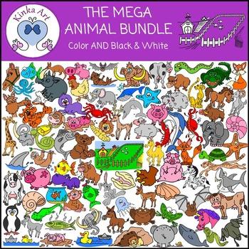 Mega Animal Clip Art Bundle