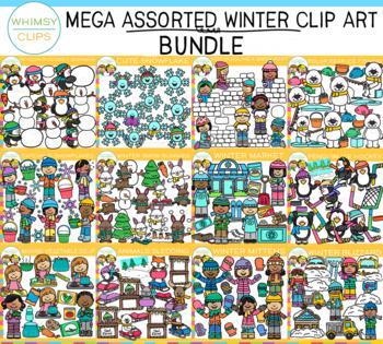 Mega Assorted WINTER Clip Art Bundle
