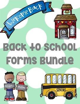 Mega Back to School forms Bundle