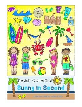 Mega Beach Clip Art Bundle