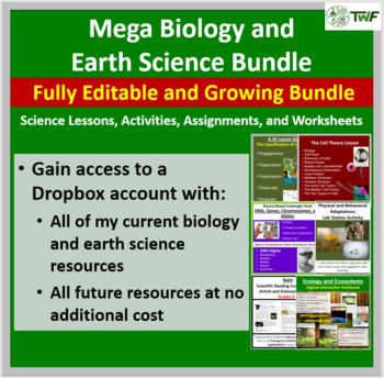 Mega Biology and Earth Science Mega Bundle - Fully editabl