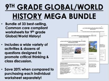 9th Grade Global/World History MEGA Bundle