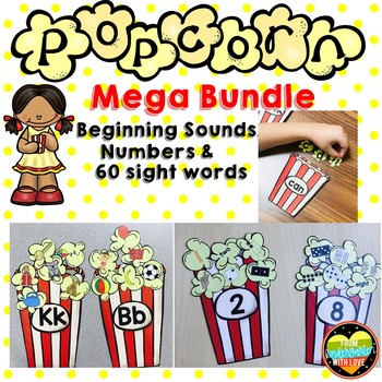 Mega Bundle Alphabet, Beginning Sounds, 60 Sight Words and Subitizing Numbers