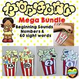 Mega Bundle Alphabet, Sounds, 60 Sight Words and Subitizing Numbers