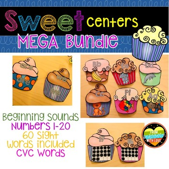 Mega Bundle Alphabet, Beginning Sounds, CVC, 60 Sight Words and Numbers