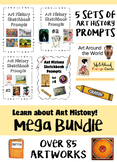 Mega Bundle:  Art History Sketchbook Prompts-  84 Cards